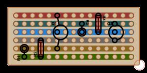 Stripboard Layout of I2C Level Converter